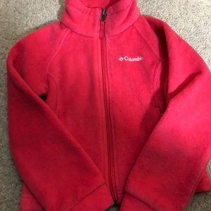 Kids 4/5 Columbia fleece pink zip up